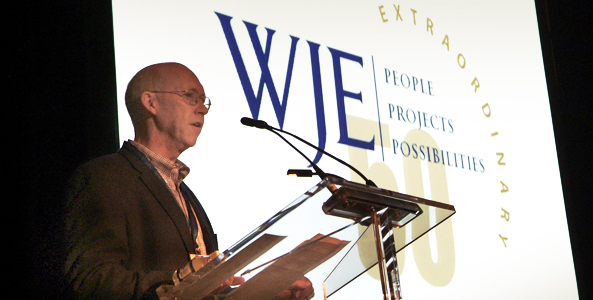 President Bill Nugent addresses staff at the 2011 WJE Conference.