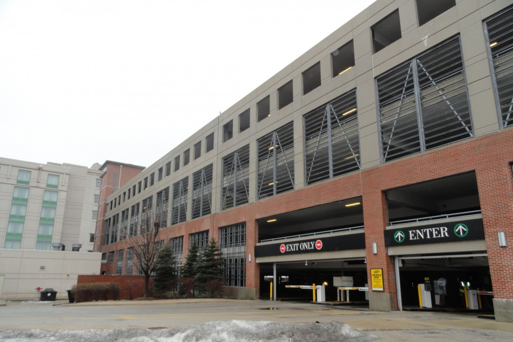 evanston parking garages evanston il