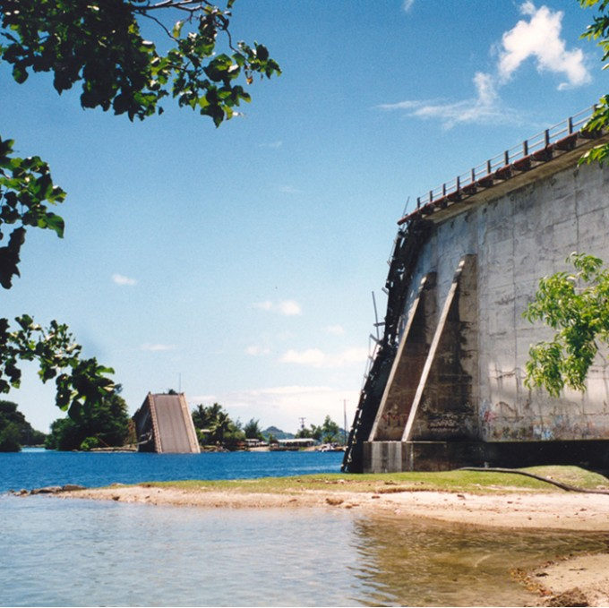 Koror Babeldaob Bridge Koror Palau Wje