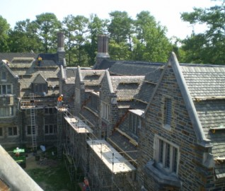 Reroof of University Dormitory with Historic Clay Tile